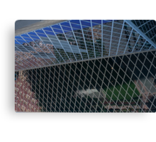 Glass panes in the Library Canvas Print