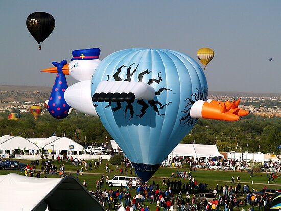 Have a Safe Flight ! The Stork Hot Air Balloon by Paul Albert