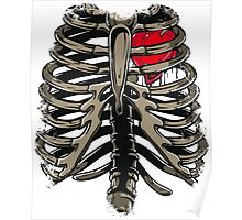 Rib Cage & Heart Poster