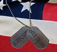 Patriotic  Dog Tags (iPhone case) by Maria Dryfhout
