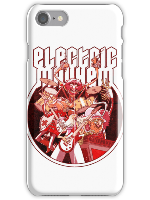 Electric Mayhem iPhone Case by Douglas Holgate