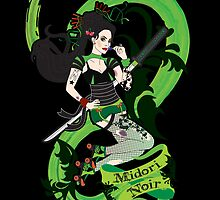 Midori Noir Rollerderby iPhone by thickblackoutline