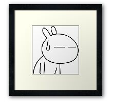 Tuzki 3 - So Tiresome! Framed Print