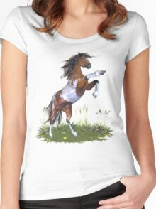Rearing Paint Stallion .. tee shirt Women's Fitted Scoop T-Shirt