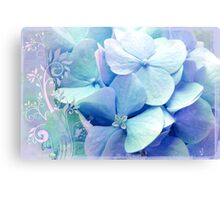 Bliss, Lavender Baby Blue Periwinkle Hydrangeas dreamy colors Canvas Print