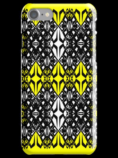 Yellow tech pattern by Cranemann