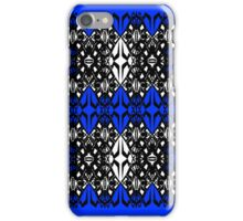 Blue tech pattern iPhone Case/Skin