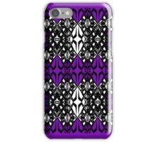 Purple tech pattern iPhone Case/Skin