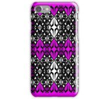 Pink tech pattern iPhone Case/Skin