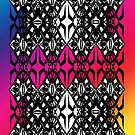 Rainbow tech pattern by Cranemann