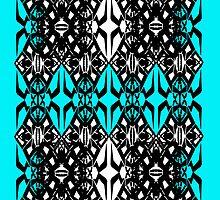 Teal Tech Pattern by Cranemann