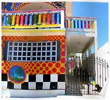 """Crayon House"" Mujeres Island, Mexico Poster"