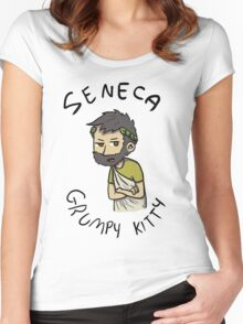 Seneca Grumpy Kitty Women's Fitted Scoop T-Shirt