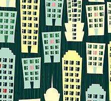 Cityscape iPhone Case by Anastasiia Kucherenko