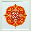 Celtic miniature, orange II by Marta Lett