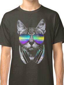 Cool music cat Classic T-Shirt