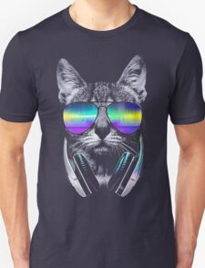 Cool music cat Unisex T-Shirt