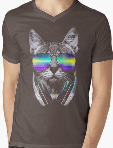 Cool music cat Mens V-Neck T-Shirt