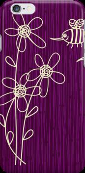 Purple Flowers iPhone Case by Anastasiia Kucherenko