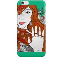 iPhone Floral Portrait 2 iPhone Case/Skin