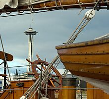Wooden Boats In Seattle.  by Todd Rollins