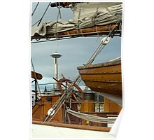Wooden Boats In Seattle.  Poster