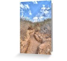 Blue sky over a dune Greeting Card