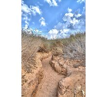 Blue sky over a dune Photographic Print