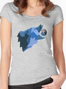 Space Bear beats Galactus Women's Fitted Scoop T-Shirt