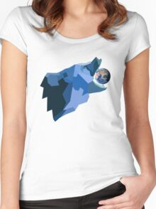 Space Bear beats Galactus Women's Fitted Scoop T-Shirt