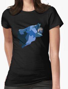 Space Bear beats Galactus Womens Fitted T-Shirt