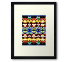 Colorful Abstract Geometric Symmetry Framed Print