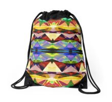 Colorful Abstract Geometric Symmetry Drawstring Bag