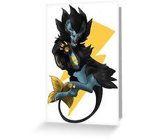 .:King of Thunder:. Greeting Card