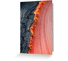 River of molten lava, close-up, Kilauea Volcano, Hawaii Islands, United States Greeting Card