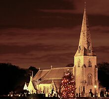 Church at Christmas by Edward Arrowsmith