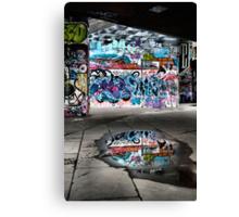 London Southbank Skate Graffiti Canvas Print