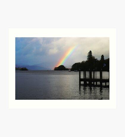 Rainbow over Windermere Art Print