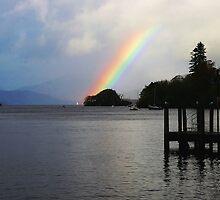 Rainbow over Windermere by Edward Arrowsmith