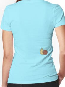 Adventure Time Snail - Small Women's Fitted V-Neck T-Shirt