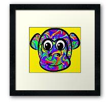 Colorful Monkey Framed Print