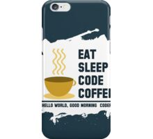programmer - eat sleep code coffee iPhone Case/Skin