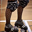 roller derby iPhone cover 1 by Lisa  Kenny