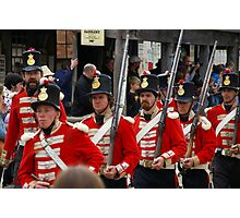 Left, Rite! The Redcoats Are Coming Photographic Print