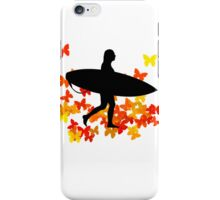 Butterfly surf - Wave rider  iPhone Case/Skin