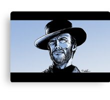 Tribute to Clint Eastwood Canvas Print