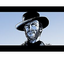 Tribute to Clint Eastwood Photographic Print