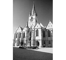 The Cathedral Catholic- Sibiu Photographic Print