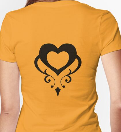 Sailor Moon - Teletia S Shirt (Black Heart) Womens Fitted T-Shirt