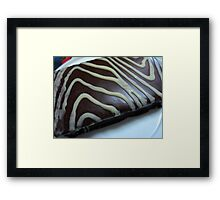 laced with white daze Framed Print